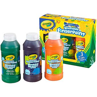 Crayola Washable Finger Paint 8oz 3/Pkg-Secondary