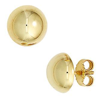 Ohrringe Ohrstecker halbrund 333 Gold Gelbgold Ohrring gold Boutons