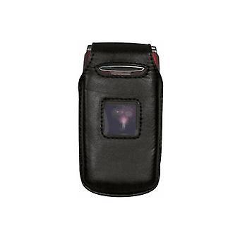 OEM Verizon Escapade 8990 Fitted Leather Case (Black)