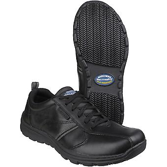 Skechers Mens Hobber - Frat Slip Resistant Lace up Work Shoes