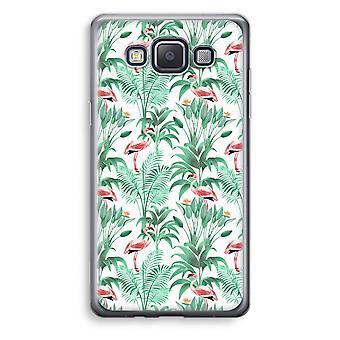 Samsung Galaxy A3 (2015) Transparent Case (Soft) - Flamingo leaves