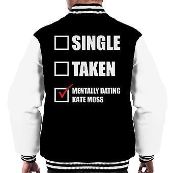 Mentally Dating Kate Moss Men's Varsity Jacket