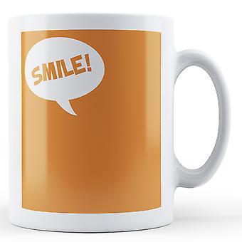 Orange Background Smile - Printed Mug
