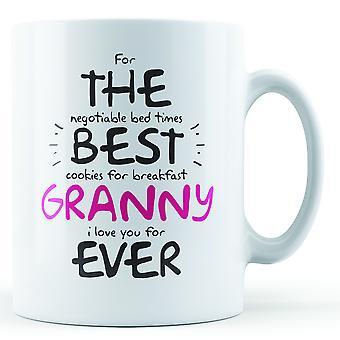 Für die beste Oma immer - Becher bedruckt