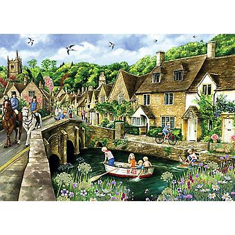 Falcon Deluxe Castle Combe, Wiltshire Jigsaw Puzzle (1000 stykker)