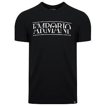 Emporio Armani Emporio Armani preto peito logotipo t-shirt