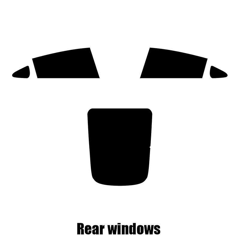 Pré coupé vitres teintées - Tesla Model 3 - 2017 et plus récents - les fenêtres arrière