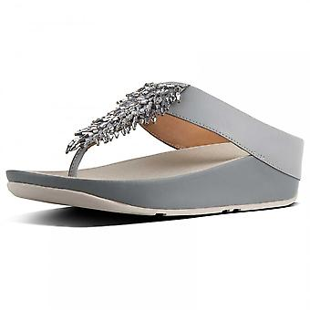 Fitflop™ Rumba™ Toe Thong Sandals - Crystal