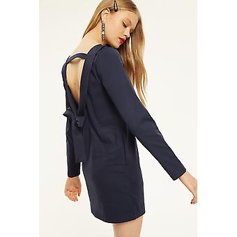 AMT Shift Dress With Low Bow Back