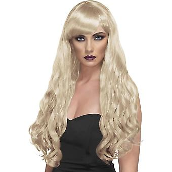 Parrucca lunga bionda, bionda parrucca di desiderio, Fancy Dress Accessory