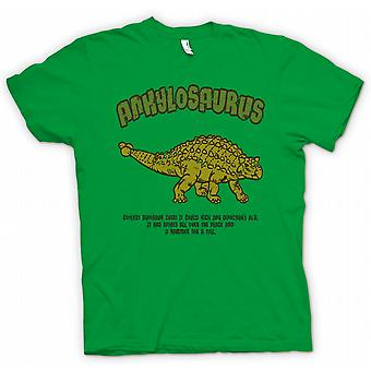 Womens T-shirt - Ankylosaurus - Coolest Dinosaur Ever - Hammer For A Tail