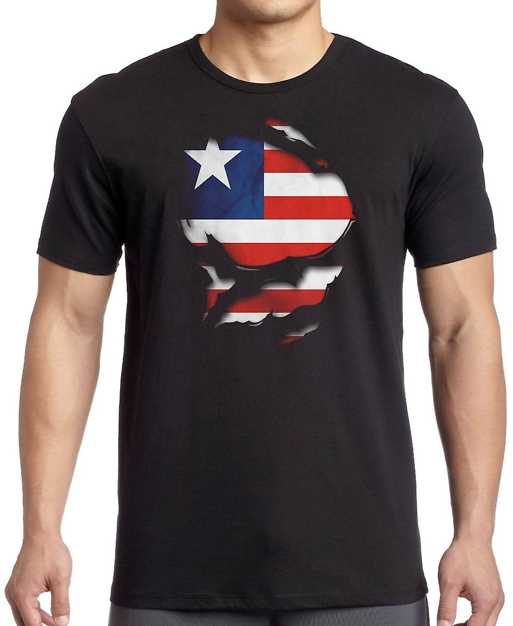 Liberia Liberian Ripped Effect Under Shirt T Shirt