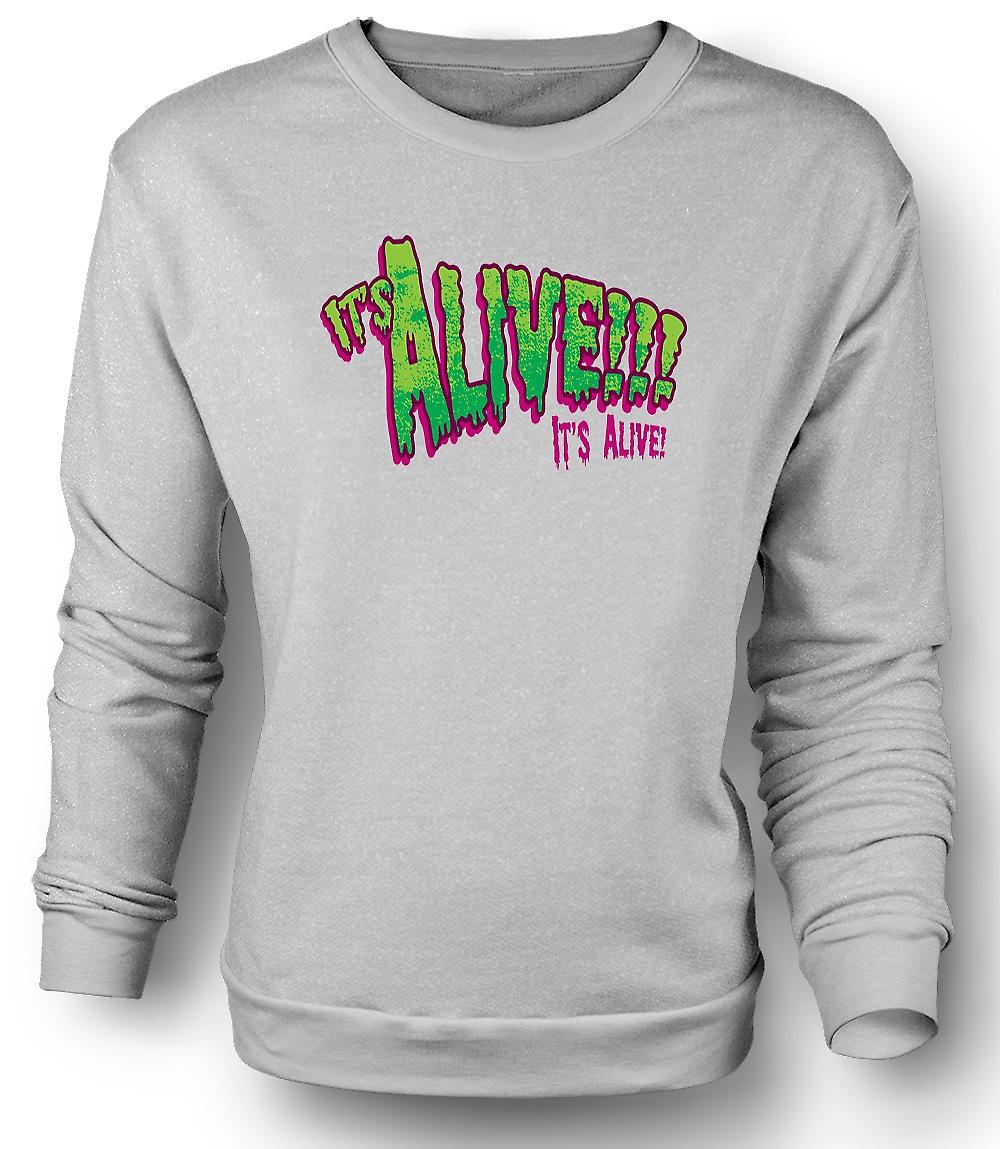 Mens Sweatshirt Its Alive Frankenstein - Funny