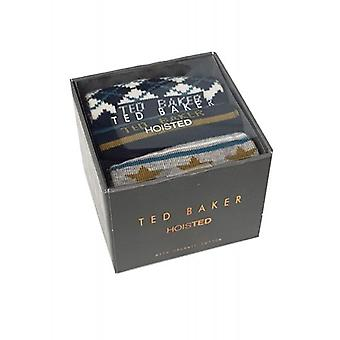 Ted Baker Socks Mens 3 Pack Rising Giftbox