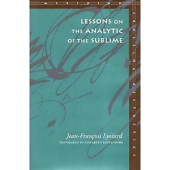 Unterricht auf die Analytik des erhabenen - Kants Kritik des Urteils