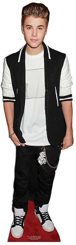 Justin Bieber - tuta nero cartone Lifesize ritaglio / Standee