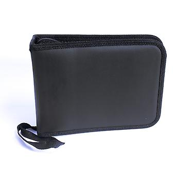Music CD/DVD Movie Carry Case Bag Sleeve Folder/Wallet Holds 100 Discs Black with Carry Handle