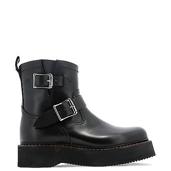 R13 Black Leather Ankle Boots