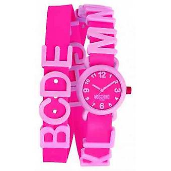 Moschino Womens levendige roze MW0327 Watch