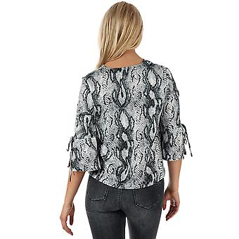 Womens Only Snake 3 Quarter Sleeve Top In Cloud Dancer
