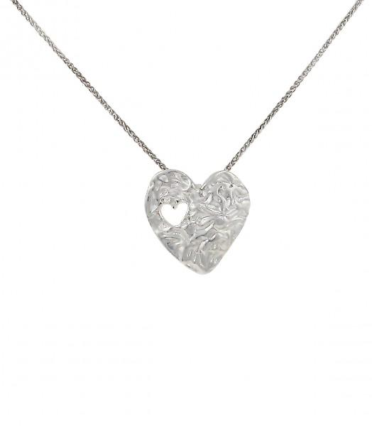 Cavendish French Heart to Heart Silver Pendant without Chain