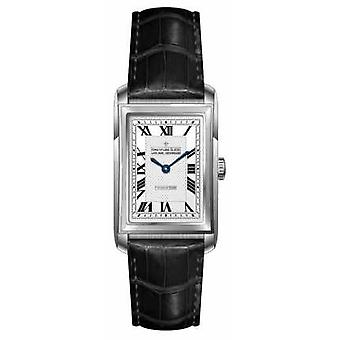 Dreyfuss Womens Black Leather Strap Silver Dial DLS00140/06 Watch