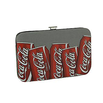 Coca-Cola Cans Grey Hard Sided Canvas Wallet