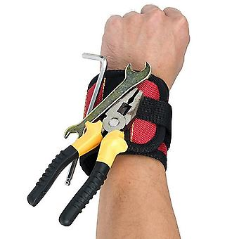 Magnetic Wrist Band For Holding Tools - DIY Handyman Home Repairs - Gadget Accessory Gift For Men
