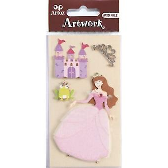 Princess And Castle Craft Embellishment By Artoz