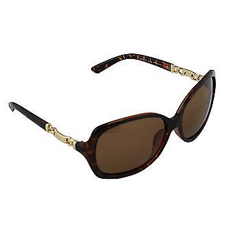 Sunglasses UV 400 oval polarizing glass leopard brown S356_2 FREE BrillenkokerS356_2