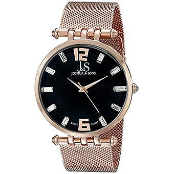 Joshua rose gold Watch men's Sons & Swiss quartz