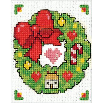 Wreath Ornament Counted Cross Stitch Kit 2