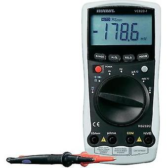 Handheld multimeter digital VOLTCRAFT VC820-1 Calibrated to: ISO standards CAT III 600 V Display (counts): 4000