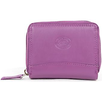 Ladies / Womens Soft Leather Concertina Credit Card / ID / Travel Card Holder / Wallet - Lilac