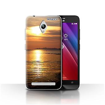 STUFF4 Case/Cover for Asus Zenfone Go ZC500TG/Sea/Sunset Scenery