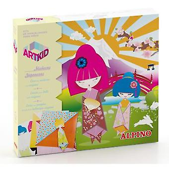 Alpino Kid Art Japanese Dolls (Toys , Educative And Creative , Arts And Crafts , Origami)