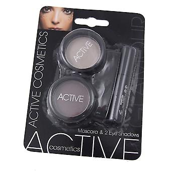 Active Glamour Mascara & 2 Eye Shadow