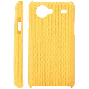 Dotted plastic cover for Samsung Galaxy S Advance i9070 (yellow)