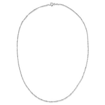 Sterling Silver 1.40mm Singapore Chain Necklace - Spring Ring - Length: 16 to 24