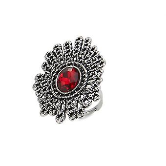 Juvel by store Ruby Cocktail Ring (Damemode-accessories, smykker, ringe)