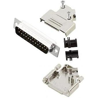 D-SUB pin strip set 45 ° Number of pins: 25 Solder bucket MH Connectors MHD45ZK25-DM25P-K 1 pc(s)