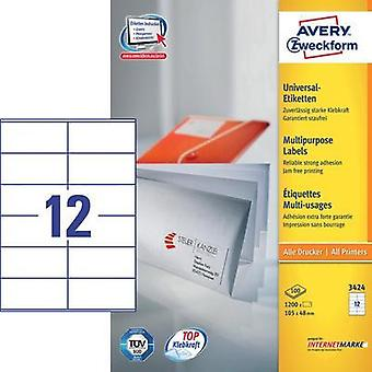 Avery Labels 3424 105X48Mm