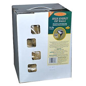 Jensen & Jørgensen høj energi Fatball Box Refill Pack uden net 50x90g