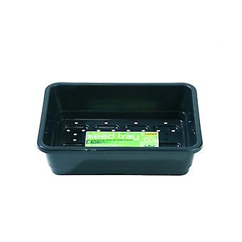 Small Seed Tray Black With Holes Planting Gardening
