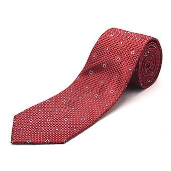 Luciano Barbera mænd Slim silke hals Tie Crimson Red
