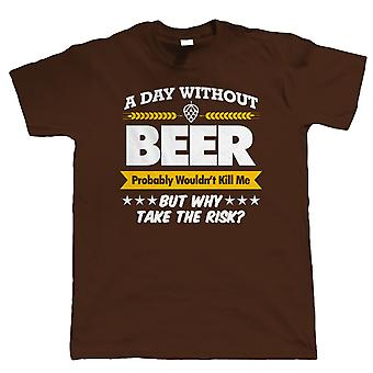 Vectorbomb, A Day Without Beer, Mens Funny T-Shirt (S to 5XL)