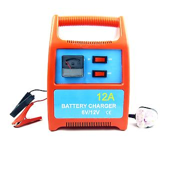 Hyfive 12A Battery Charger Car Van Boat Motorhome Portable Compact Heavy Duty