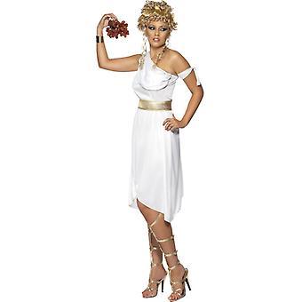 Griechin Kostüm Kleid weiß Griechenland Toga