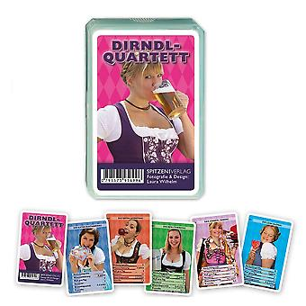 Dirndl Quartet Oktoberfest Oktoberfest breast card game