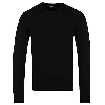 Armani Jeans Black Regular Fit Knitted Sweater